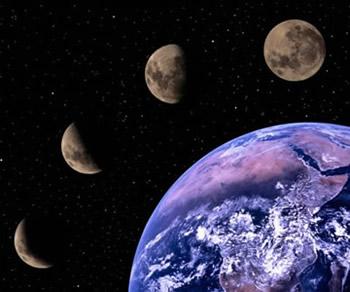 Calendario Lunar Enero de 2019, Fases Lunares